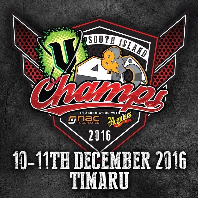 V4 & ROTARY SOUTH ISLAND CHAMPS SATURDAY DECEMBER 10TH, 2016 LEVELS RACEWAY, TIMARU
